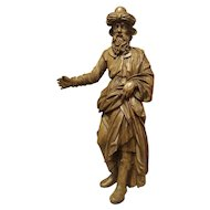 18th Century Carved Wooden Statue from France