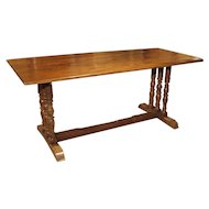 Elegant Antique French Table Constructed of Oak