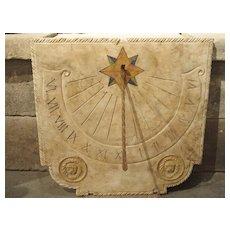 A Carved Italian Marble Sundial