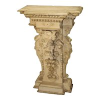 Antique Painted Napoleon III Wall Console Pedestal, Circa 1860