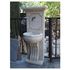 Small Carved French Wall Fountain from Provence