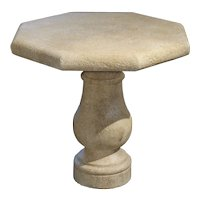 Carved Octagonal Stone Side Table from Provence, France