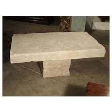 Limestone Coffee Table from Provence, France