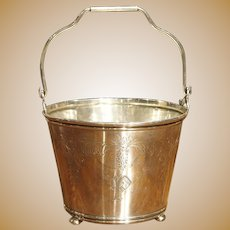 """Small Sterling Silver Ice Bucket with Monogram """"P"""""""
