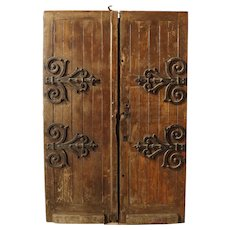 18th Century Oak and Wrought Iron Doors from the Convent of Carmel, Sete, France