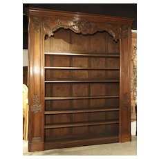 Grand Early 18th Century French Regence Bibliotheque in Carved Oak