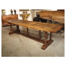 Antique Oak Baluster Leg Dining Table from France, Circa 1850
