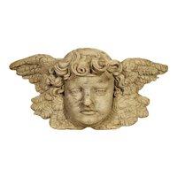 Winged Cherub Carving in Bleached Oak, France Circa 1700