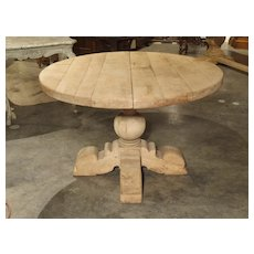 A Bleached Extending Center Or Breakfast Table From Belgium