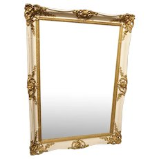 Painted Giltwood Louis XV Style Mirror