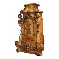 Rare Large Scale 17th Century Oak Sacristy Cabinet from France