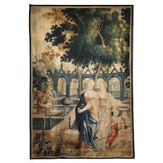 17th Century Park Scene Tapestry from France