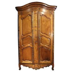 Antique Walnut Wood Armoire, Fourques Circa 1820