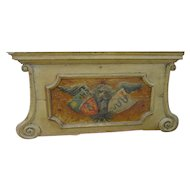 18th Century Painted Overdoor from Nice, France