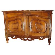 Exquisite 18th Century Walnut Wood Buffet Nimoise