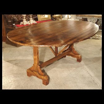 Large Antique Wine Tasting Table from France