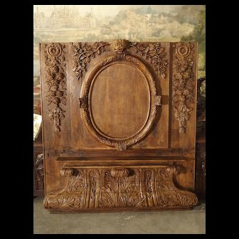 Exceptional 18th Century Oak Boiserie Panel from Chateau Saint-Maclou, Normandy France