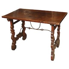 Circa 1750 Italian Walnut Wood Writing Table
