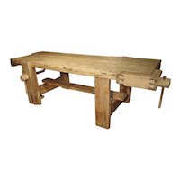 Large Antique Tuscan Work Bench, Circa 1865
