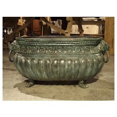 Large Antique Patinated Bronze Jardiniere from Italy, Circa 1890