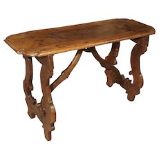 Code 219-36 17th Century Walnut Wood Table from the Lombardy Region of Italy