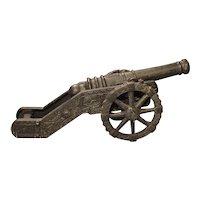 Circa 1900 Cast Iron Cannon Model