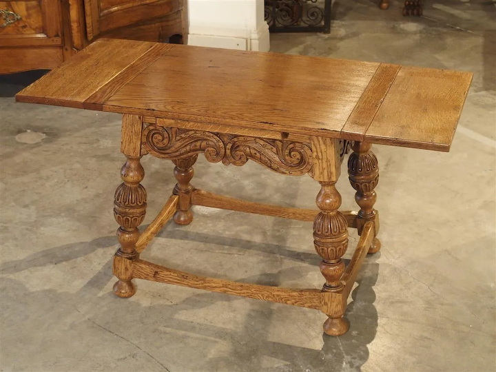 Incredible Small Jacobean Style Side Table With Extending Leaves Ibusinesslaw Wood Chair Design Ideas Ibusinesslaworg