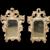 Pair of Small 19th Century Italian Silver Gilt Mirrors