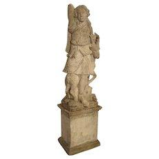 Early 20th Century Italian Limestone Statue of Diana The Huntress
