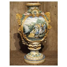 19th Century Italian Majolica Fountain Body/Vase