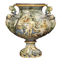 Late 19th Century Italian Majolica Urn