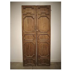 Pair of 17th Century Chestnut Wood Doors from Umbria Italy