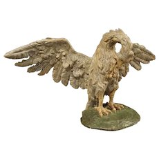 Circa 1700 Carved and Polychrome Wooden Pelican Sculpture from Tuscany