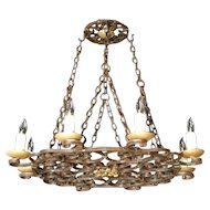 Round Cast Iron Antique Chandelier