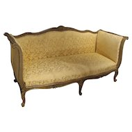 Painted Antique French Louis XV Style Canape, 19th Century