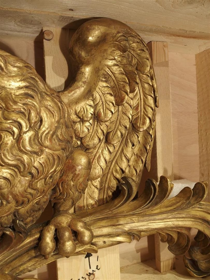 Rare 18th Century Carved And Gilded Italian Walnut Wood