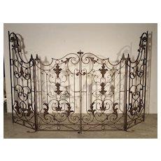 Pair of Circa 1800 French Wrought Iron Gates