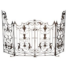 Pair of Circa 1800 French Wrought Iron Gates