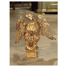 Small 18th Century Italian Giltwood Eagle Bookholder or Stand