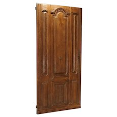 Early 1900s French Louis XIV Style Oak Entry Door