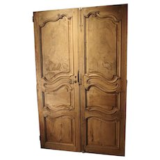 Pair of Circa 1800 Stripped Walnut Wood Doors from France