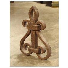Antique Forged Iron Fleur De Lys, France 18th century