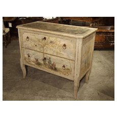 Antique Painted Commode from Italy, 19th Century