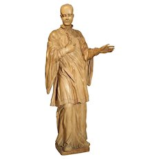 18th Century Limewood Statue of Saint Aloysius Gonzaga, Circa 1730