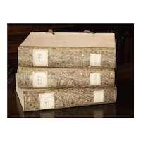 Decorative Set of 3 Antique Faux Book Document Holders from Italy, C.1915