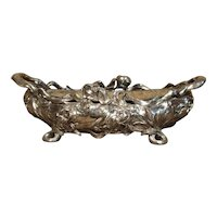 Silvered Bronze Art Nouveau Jardiniere from France, Circa 1920
