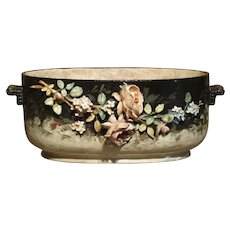 Circa 1880 Edouard Gilles Barbotine Jardiniere from France