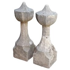17th Century French Granite Garden Posts