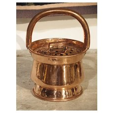 17th Century Copper Chaufferette from France