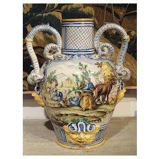 18th Century Italian Majolica Fountain Body/Urn